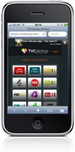 A selection of channels available using TV catchup