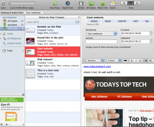 Evernote running on Mac OSX